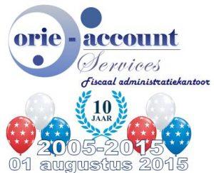 10 jaar Orie Account Services